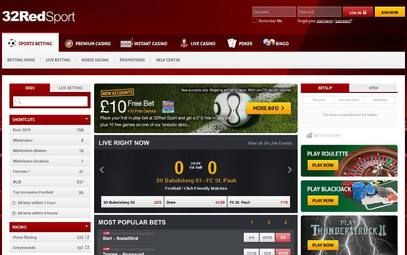 32Red Sport Screenshot