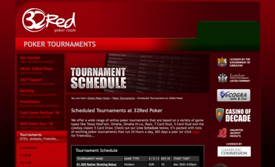 32Red Poker Screenshot