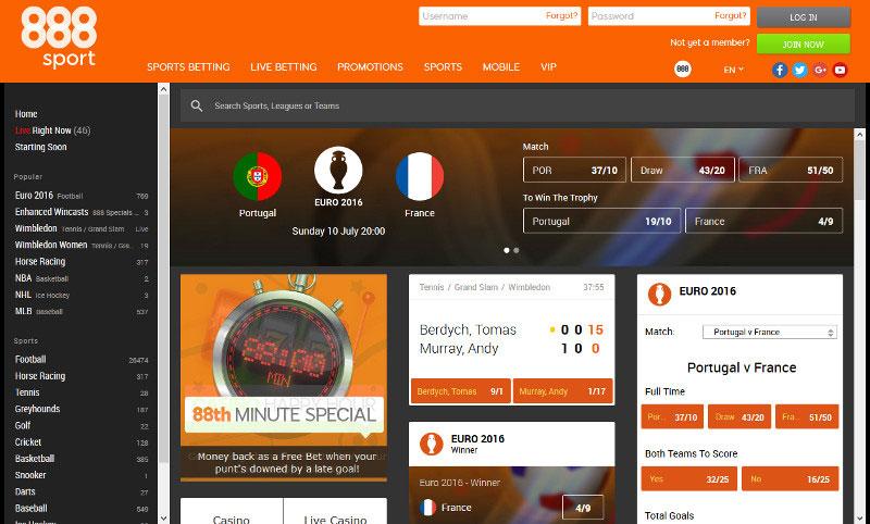888 Sport Screenshot