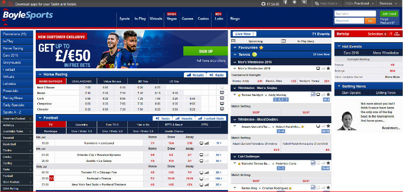 Boylesports Screenshot