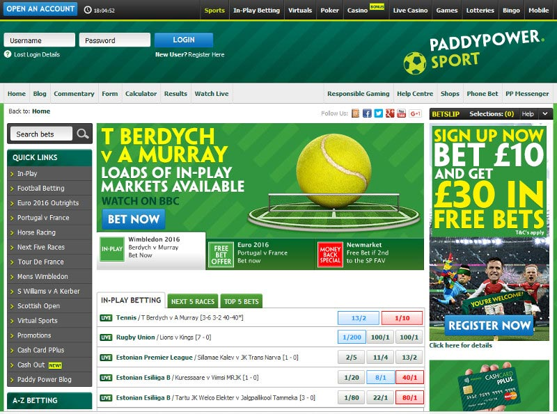Paddy Power Screenshot