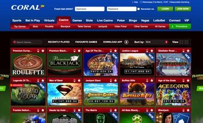Coral Casino Screenshot