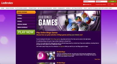 Ladbrokes Bingo Screenshot