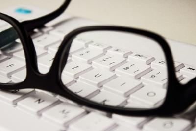 Glasses on Keyboard