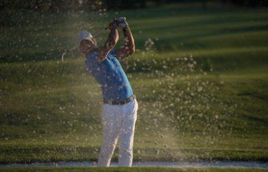 Golfer Taking Bunker Shot