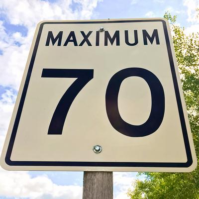 Maximum Limit Street Sign