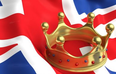 Crown and UK Flag