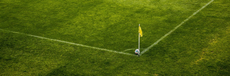 Corner Flag on Football Pitch