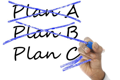Crossing Out Plans A and B and Chosing Plan C