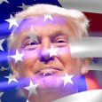 Donald Trump and USA Flag
