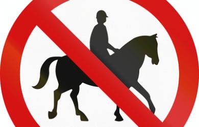 No Horse Riding Sign