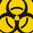 Cropped Bio Hazard Warning Triangle