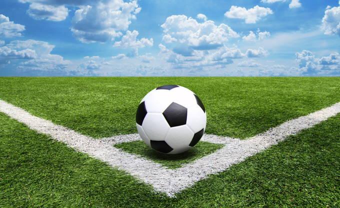 Football on corner