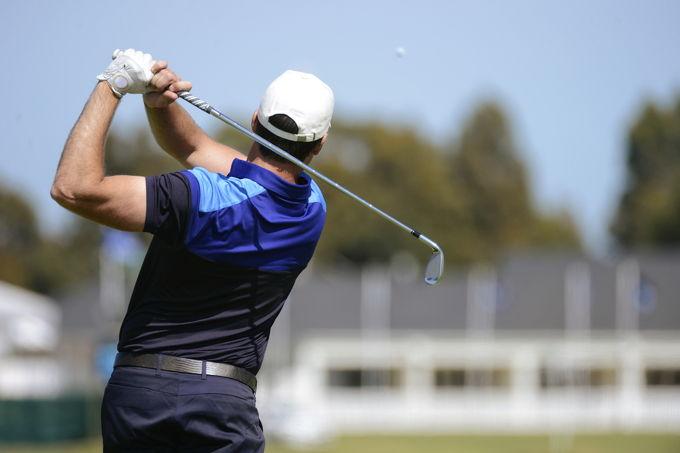 Golfer Mid Swing