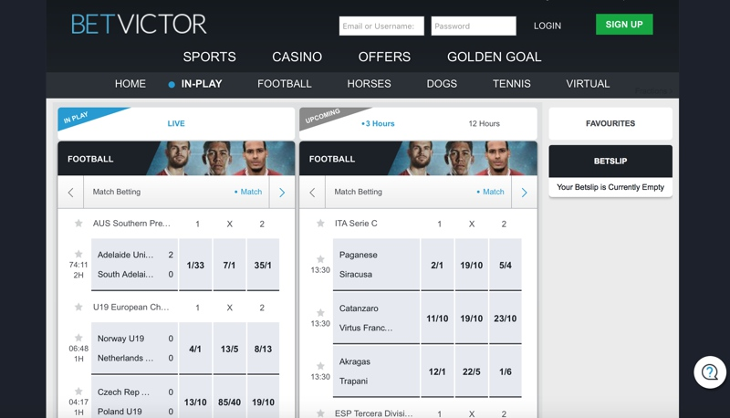 BetVictor Sports Screenshot