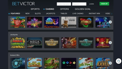 BetVictor Casino Screenshot