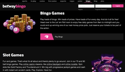 Betway Bingo Screenshot
