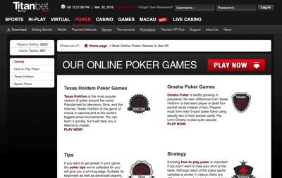 Titanbet Poker Screenshot