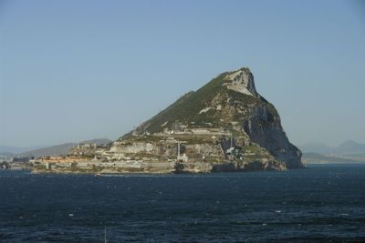 View of Gibraltar from the Sea