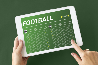 Football Betting on Tablet