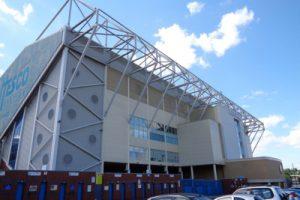 Elland Road Football Stadium in Leeds