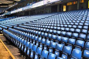 Blue Seating at Chelsea's Stamford Bridge Stadium