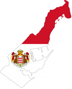 Map and Flag of Monaco