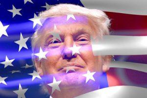 Donald Trump and USA Flag