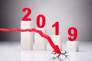 Arrow Showing Decreasing 2019