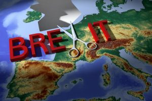 Brexit Britain Cut Out of Map of Europe