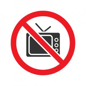 No Television Sign