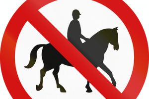 No Horse Riding Sign