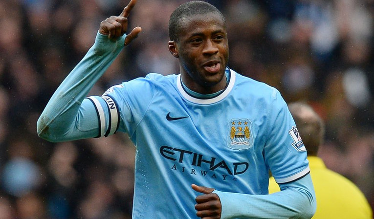 Yaya Toure Playing for Manchester City