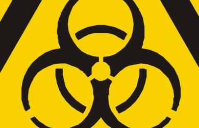 Cropped Bio Hazard Warning Triangle