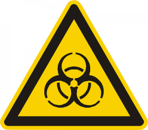 Bio Hazard Warning Triangle