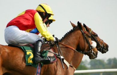 Jockeys and Horses Racing