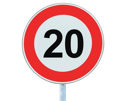 Maximum 20 Sign