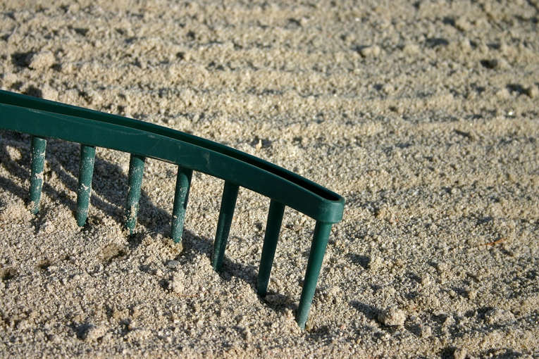 Rake on Sand