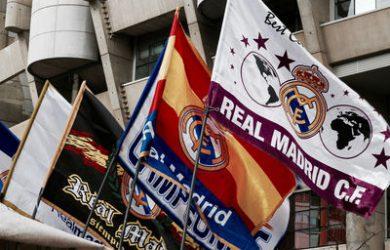 Real Madrid Flags at the Santiago Bernabeu