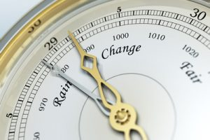Barometer Showing Changing Weather