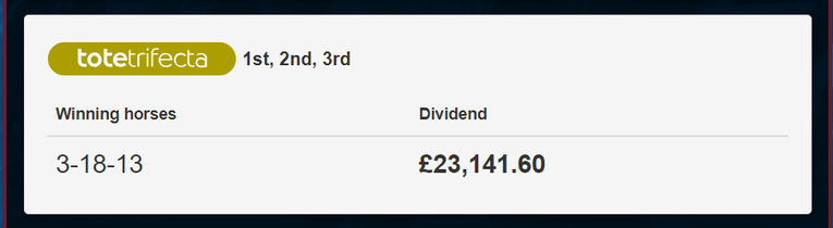 Grand National 2019 Trifecta Dividend