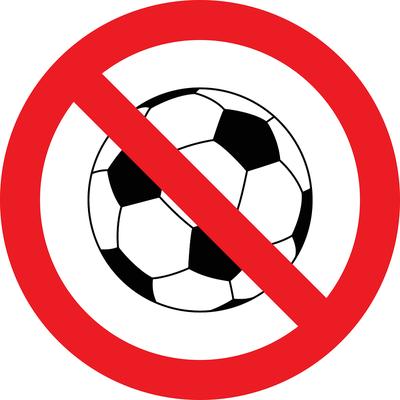 No Football Sign