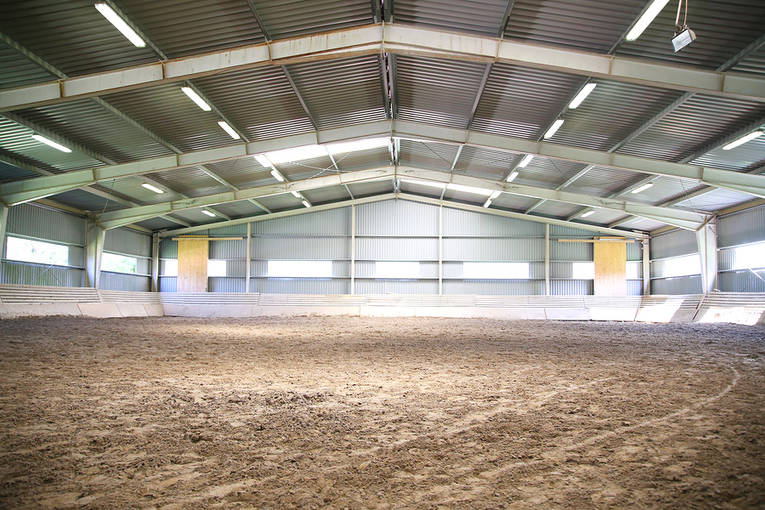 Empty Indoor Riding Area