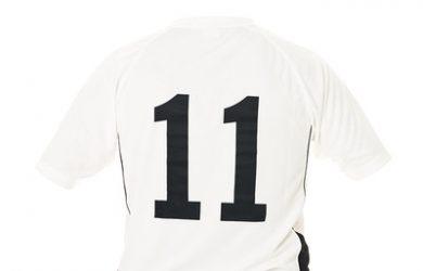 White Number 11 Football Shirt