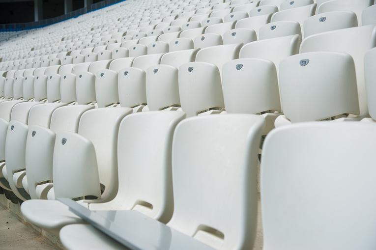 White Stadium Seats