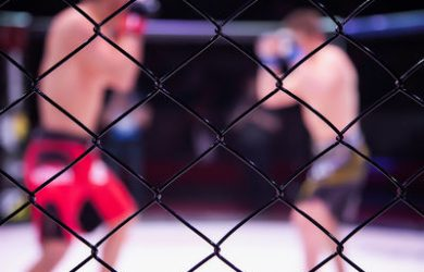 MMA Fighters in Octagon Blurred