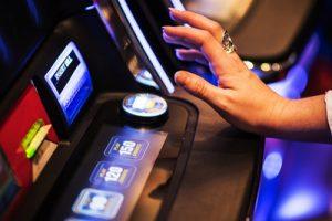 Slot Machine Being Played