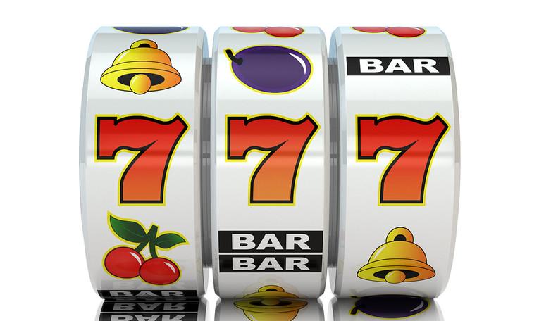 777 on Slot Machine Reel