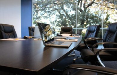 Boardroom Seats and Laptop