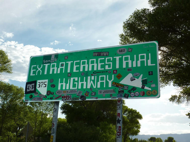 Extraterrestrial Highway Road Sign